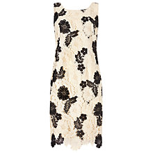 Buy Jacques Vert Mono Lace Dress, Cream/Black Online at johnlewis.com