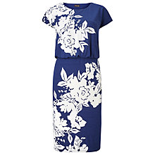 Buy Phase Eight Nanette Print Dress, Navy Online at johnlewis.com