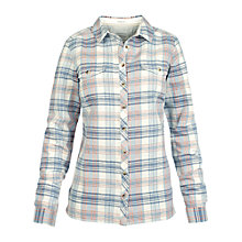 Buy Fat Face Classic Fit Linen Check Shirt, Powder Online at johnlewis.com
