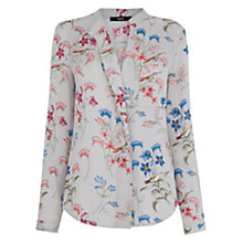 Buy Oasis Botanical Shirt, Grey Online at johnlewis.com