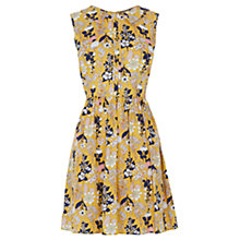 Buy Oasis Edie Floral Skater Dress, Yellow Online at johnlewis.com