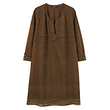 Buy Violeta by Mango Openwork Cotton Dress, Medium Green Online at johnlewis.com