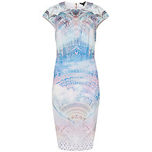 Buy Ted Baker Dremaa Dreamscape Bodycon Dress, Lilac Online at johnlewis.com