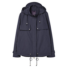 Buy Violeta by Mango Hooded Cotton Parka, Blue Online at johnlewis.com