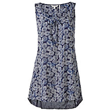 Buy Fat Face Kingston Coins Longline Top, Navy Online at johnlewis.com
