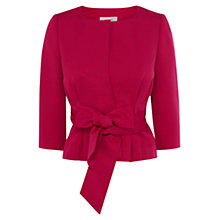 Buy Coast Vergara Bow Jacket, Raspberry Online at johnlewis.com