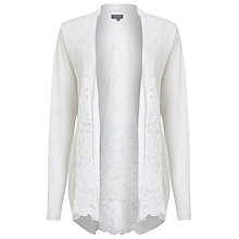 Buy Phase Eight Lace Linen Cardigan, White Online at johnlewis.com
