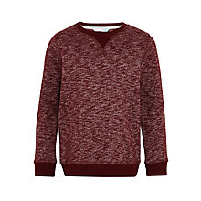 Buy John Lewis Boys' Melange Sweatshirt, Burgundy Online at johnlewis.com
