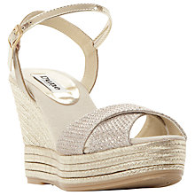 Buy Dune Kitty Wedge Heeled Sandals, Gold Online at johnlewis.com