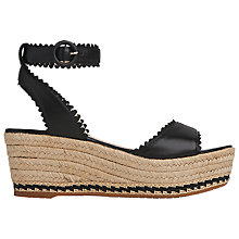 Buy L.K. Bennett Valen Flatform Sandals, Black Online at johnlewis.com