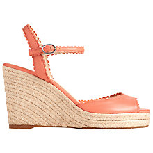 Buy L.K. Bennett Seve Wedge Heeled Sandals, Cantaloupe Online at johnlewis.com