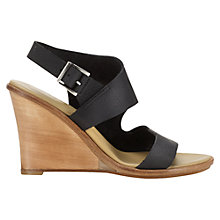 Buy Jigsaw Amelie Wedge Heeled Sandals, Black Online at johnlewis.com