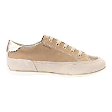 Buy Geox New Moena Lace Up Trainers, Taupe/Beige Online at johnlewis.com