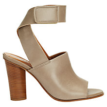 Buy Jigsaw Estella Block Heeled Sandals, Taupe Online at johnlewis.com