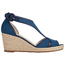 Buy L.K. Bennett Kesha Wedge Heeled Sandals, Denim Online at johnlewis.com