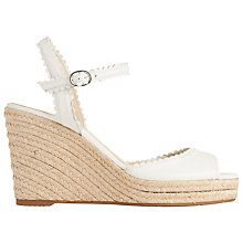 Buy L.K. Bennett Seve Wedge Heeled Sandals, White Online at johnlewis.com