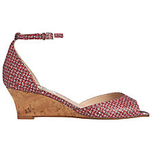 Buy L.K. Bennett Cristi Wedge Heeled Sandals, Candy Online at johnlewis.com