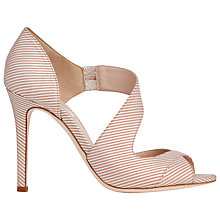 Buy L.K. Bennett Laura Cut Away Asymmetric Sandals, Pale Pink Stripe Online at johnlewis.com