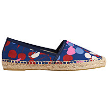 Buy L.K. Bennett Elsie Espadrilles, Denim Online at johnlewis.com
