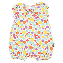 Buy Polarn O. Pyret Baby Polka Dot Playsuit, White Online at johnlewis.com