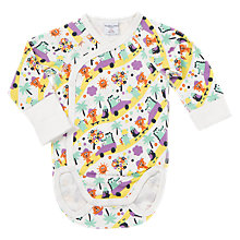 Buy Polarn O. Pyret Baby Beach Print Bodysuit, White Online at johnlewis.com