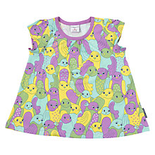Buy Polarn O. Pyret Baby Bird Print Top, Purple Online at johnlewis.com