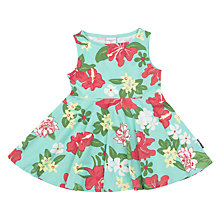Buy Polarn O. Pyret Baby Floral Print Dress, Green Online at johnlewis.com