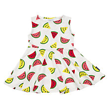 Buy Polarn O. Pyret Baby Melon Print Dress, White Online at johnlewis.com