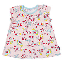 Buy Polarn O. Pyret Children's Bird Print Top, Pink Online at johnlewis.com