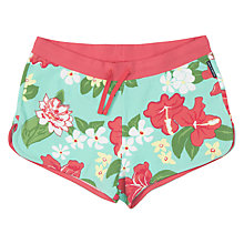 Buy Polarn O. Pyret Girls' Tropical Shorts, Multi, Green/Red Online at johnlewis.com