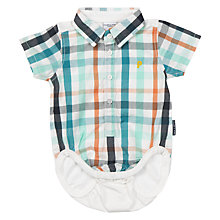 Buy Polarn O. Pyret Baby Shirt Bodysuit, White/Multi Online at johnlewis.com