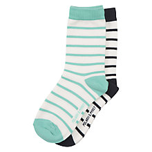 Buy Polarn O. Pyret Children's Stripe Socks, Pack of 2 Online at johnlewis.com