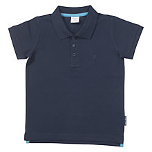 Buy Polarn O. Pyret Children's Polo Shirt, Blue Online at johnlewis.com