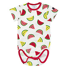 Buy Polarn O. Pyret Baby Melon Print Bodysuit, White Online at johnlewis.com