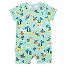 Buy Polarn O. Pyret Baby Print Romper Playsuit, Green Online at johnlewis.com