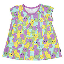 Buy Polarn O. Pyret Children's Bird Print Top, Purple Online at johnlewis.com
