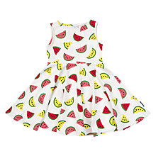 Buy Polarn O. Pyret Children's Melon Print Dress, White Online at johnlewis.com