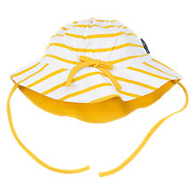 Buy Polarn O. Pyret Baby Striped Sun Hat, Yellow Online at johnlewis.com