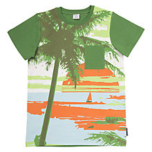 Buy Polarn O. Pyret Children's Beach Print T-Shirt Online at johnlewis.com