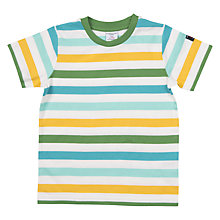 Buy Polarn O. Pyret Children's Stripe T-Shirt, White Online at johnlewis.com
