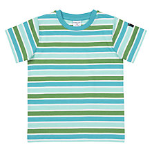 Buy Polarn O. Pyret Children's Stripe T-Shirt, Blue Online at johnlewis.com