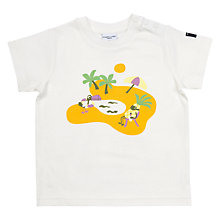 Buy Polarn O. Pyret Baby Beach Print T-Shirt Online at johnlewis.com