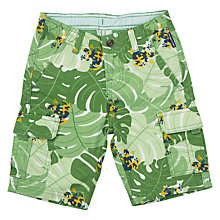 Buy Polarn O. Pyret Children's Cargo Shorts, Green Online at johnlewis.com