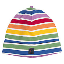 Buy Polarn O. Pyret Baby Stripe Print Beanie Hat, Multi Online at johnlewis.com