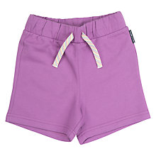 Buy Polarn O. Pyret Baby Sweat Shorts, Purple Online at johnlewis.com