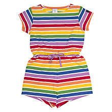 Buy Polarn O. Pyret Children's Rainbow Stripe Playsuit, Multi Online at johnlewis.com
