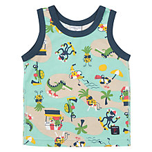 Buy Polarn O. Pyret Baby Vest Top, Green Online at johnlewis.com