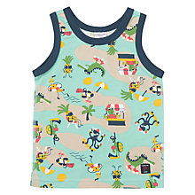Buy Polarn O. Pyret Children's Vest Top, Green Online at johnlewis.com