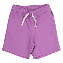 Buy Polarn O. Pyret Children's Sweat Shorts, Purple Online at johnlewis.com