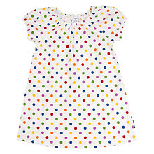 Buy Polarn O. Pyret Children's Polka Dot Dress, White Online at johnlewis.com